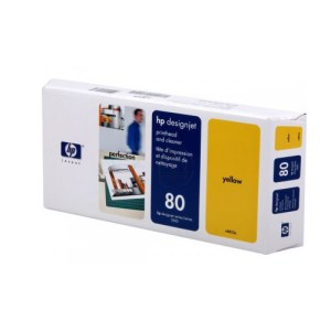 CABEZAL HP 80 C4823A, Color: Amarillo, Compatibilidad: HP DESIGNJET 1000 SERIES /1000 PLUS SERIES/ 1050C/1055CM