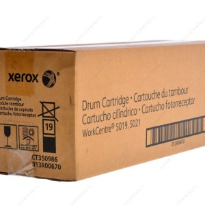 DRUM XEROX 013R00670, Rendimiento: 80,000 pags, Compatibiliadad :WorkCentre 5021, Color: Negro