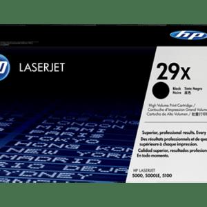 TONER HP 29X , Color: Negro, Compatibilidad: HP LASERJET 5000/5000N/5000DN/5000TN/5000GN/5100/5100TN/5100DTN, Rendimiento: 10000 páginas.