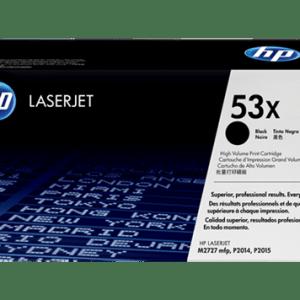 Toner hp 53x, Color: Negro, Compatibilidad: HP LASERJET 2015/2010/2014/M2727/M2525/P2015N, Rendimiento: 7000 páginas.