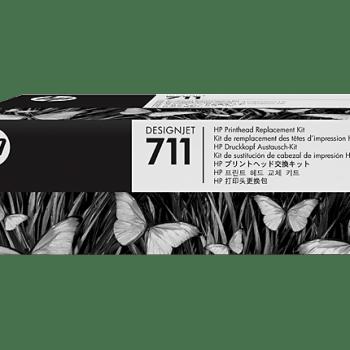 Cabezal HP 711 C1Q10A negro