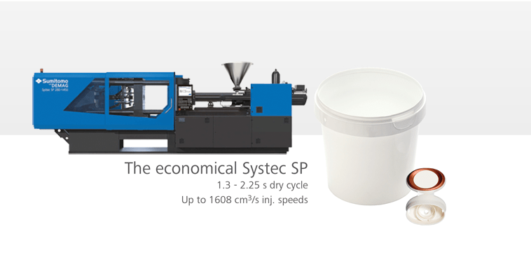 Sample products molded on Systec SP injection molding machine
