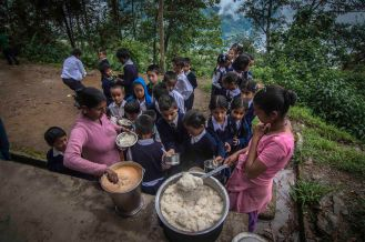 Apart from all the facilities provided by the State Govt., schools also have mid Day meal system run by Central Govt.