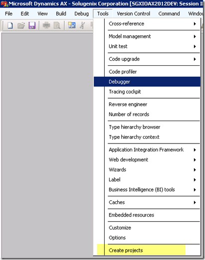 Create Project Tool for Developers [AX 2012] (2/4)