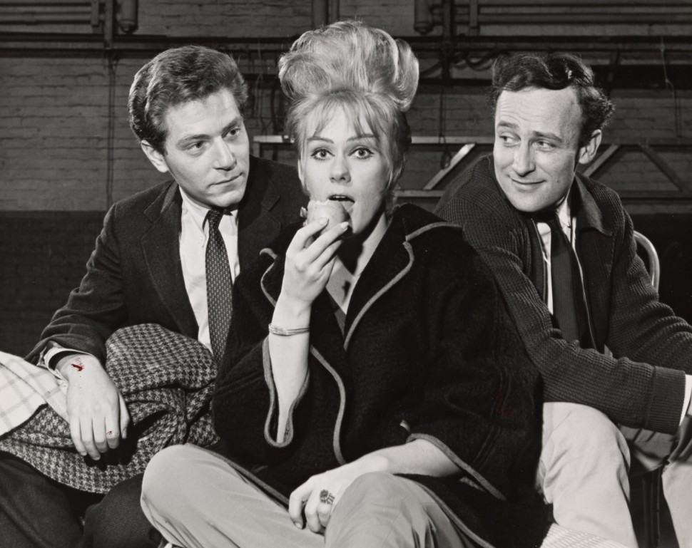 George Segal, Tammy Grimes, and Edward Woodward in rehearsal for <i data-recalc-dims=