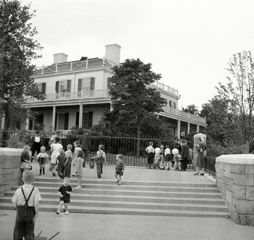 Mayor Fiorello LaGuardia's new home, Gracie Mansion, 1942.