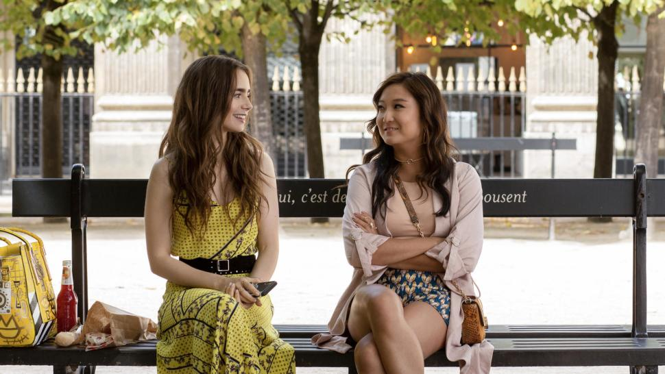 """Lily Collins and Ashley Park in <i data-rte2-sanitize=""""italic"""" data-recalc-dims="""