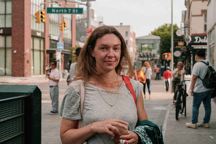 A photo of a commuter in Williamsburg