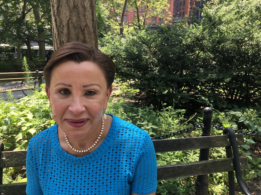 Nydia Velazquez after a press conference in City Hall Park on July 15, 2021.