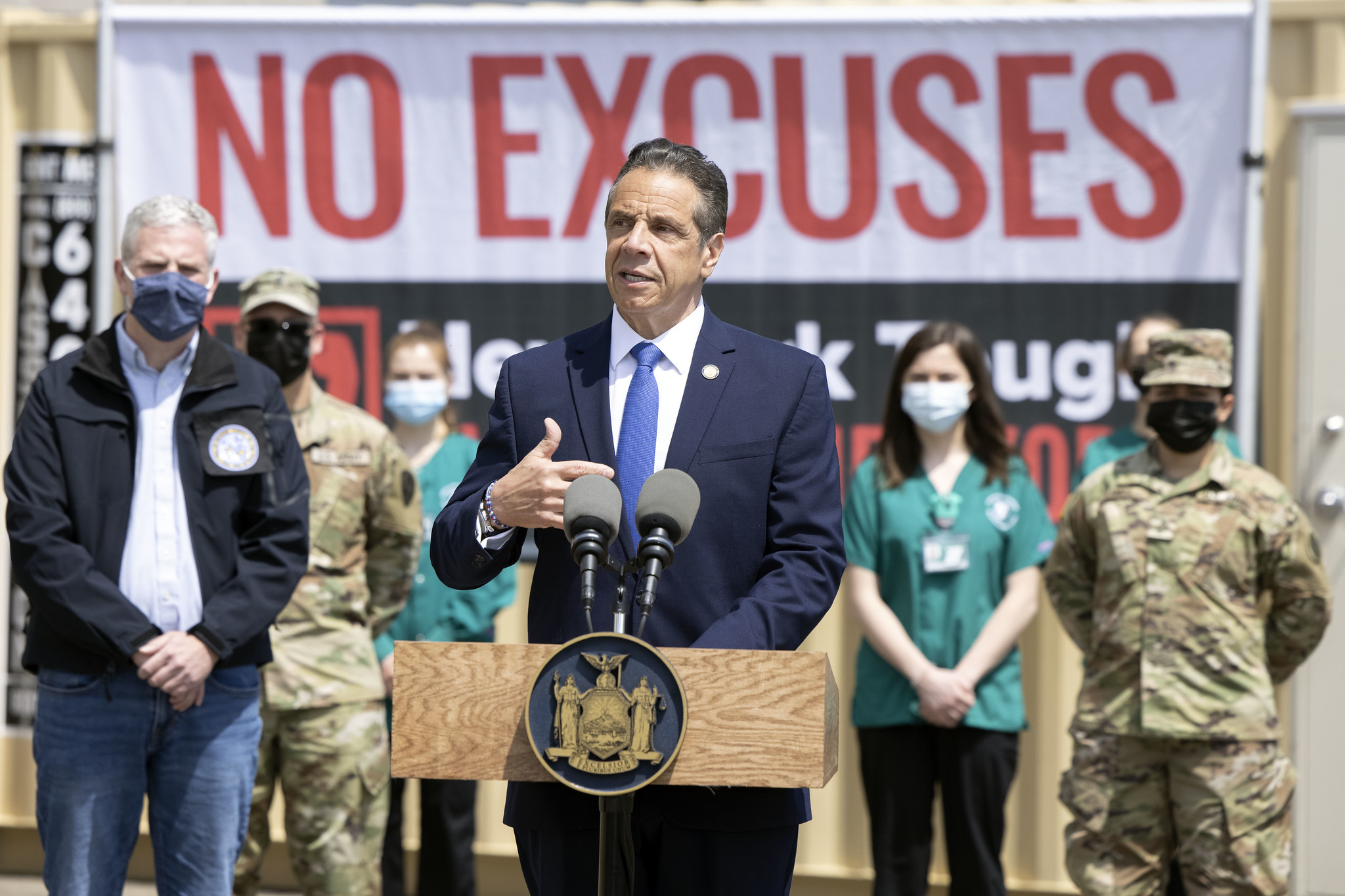 Governor Cuomo announces all state mass vaccination sites will be open to walk-in appointments, April 27th, 2021
