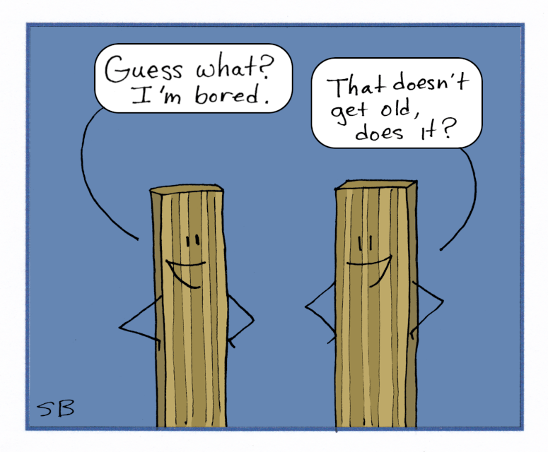 Two Bored Boards Telling Puns