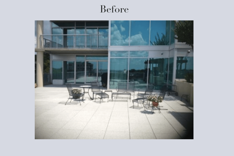 rooftop furniture before after