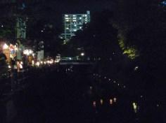 松戸駅方面に流れていく