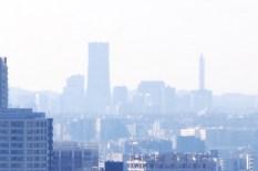 ランドマークタワーにズーム@東京タワー