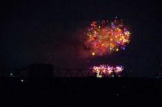 市川江戸川の花火