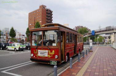 上毛電鉄、中央前橋駅前にて