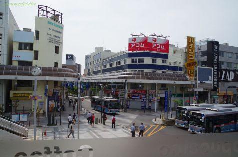 京急久里浜駅東口前の様子
