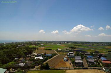 展望室から見た鹿島臨海工業地帯