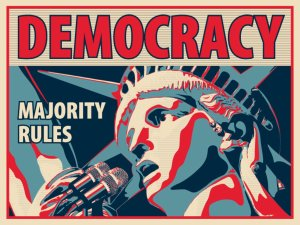 You should work within the system: use democracy.