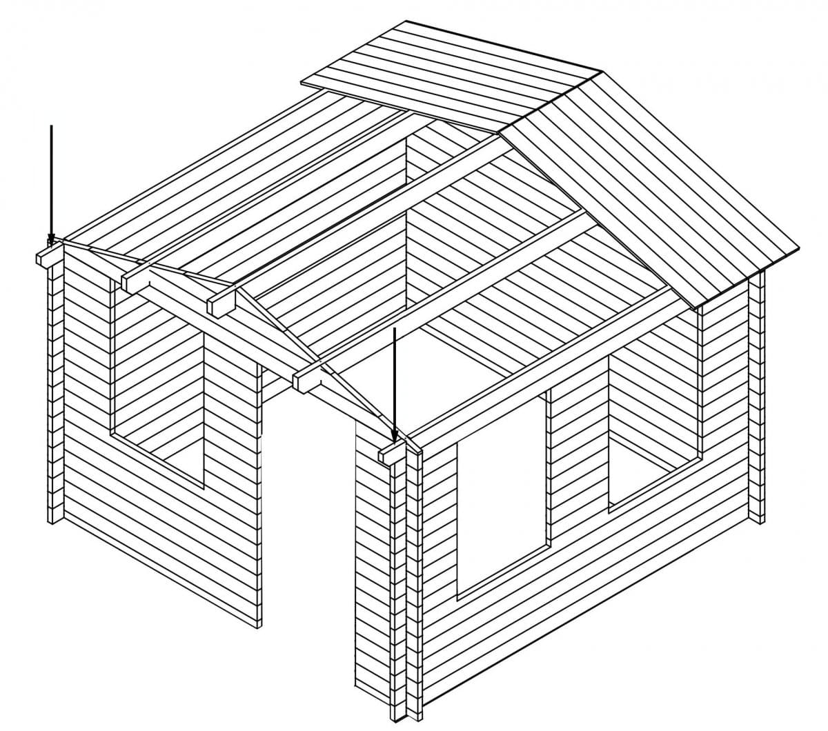 How To Build Install Log Cabin Summer House Summer