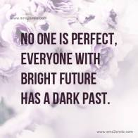Don't let anything get you down. You're not perfect and no actually is. True excellence is being a better version of the man you were yesterday, not in trying to be better than someone else. You deserve only the best!