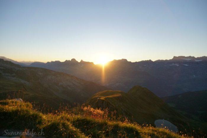 Sonnenuntergang Leglerhütte