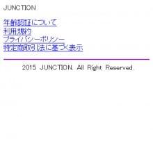 JUNCTION(ジャンクション) トップ