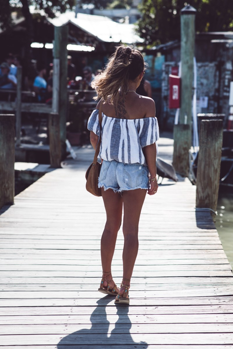 Summer of Diane island company off the shoulder top blogger Miami