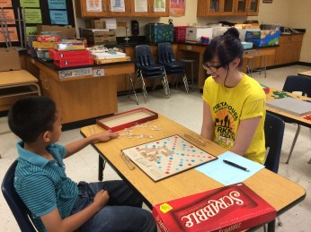 Scrabble with Kate