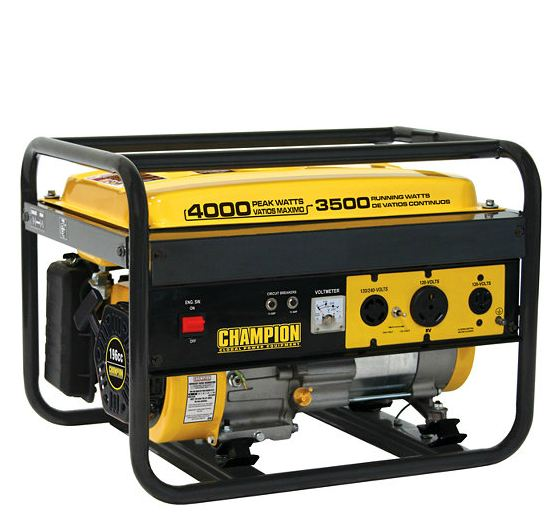 Champion 3500W/4000W portable generator in preparation of thundersnow and power outages