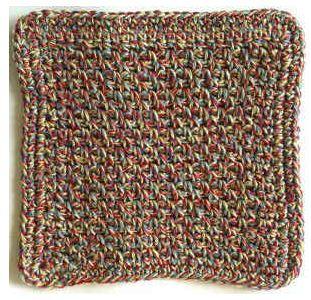 Beginner Crochet Dishcloth