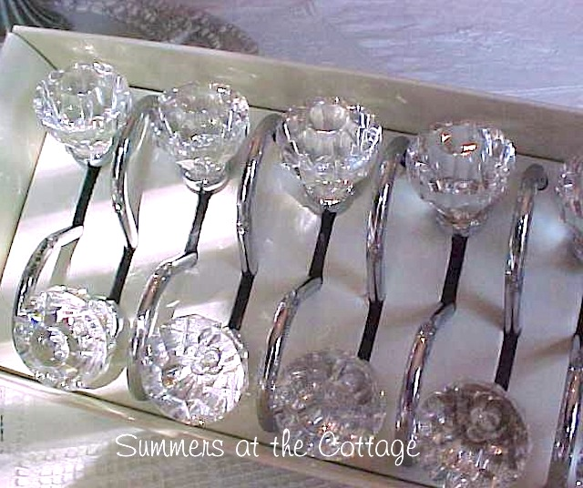 crystal clear shower curtain hooks drawer pull style shabby romantic chic