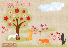 Playful Valentine Kitties