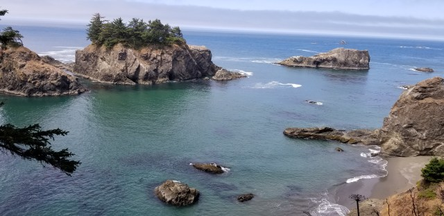 Sea stacks in Brookings, Oregon