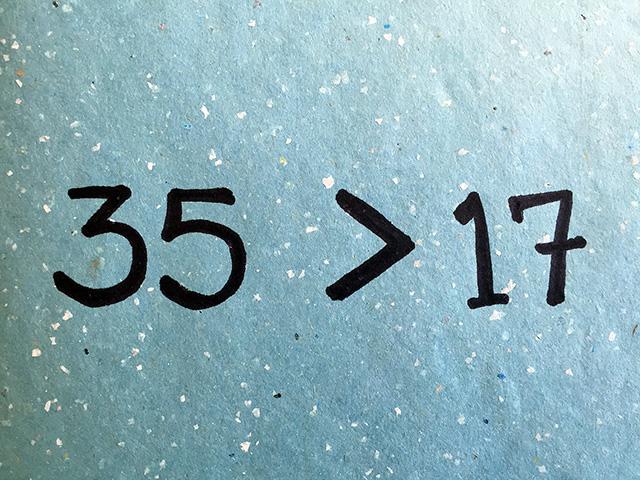 35 beats 17