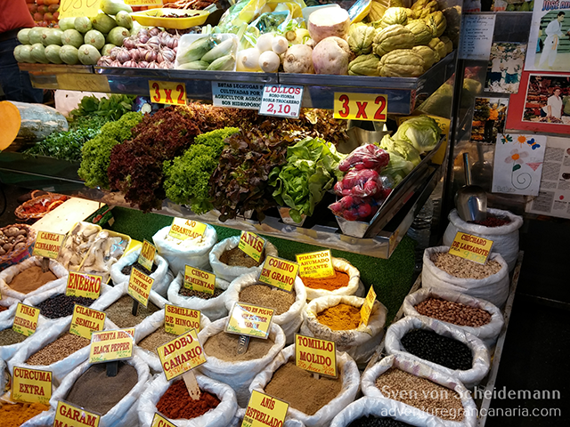 Spices and vegetables from the Canaries