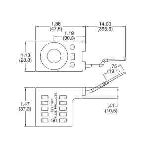 Deltrol 1022614 Solenoid Coil, Single Lead Wire, 10v DC, 08 Series