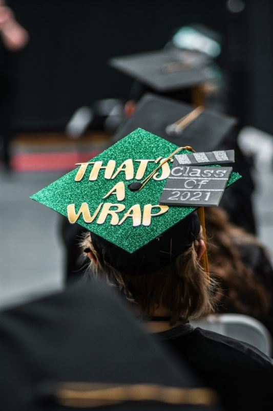 That's a wrap! RMC Graduate's cap beautifully decorated.