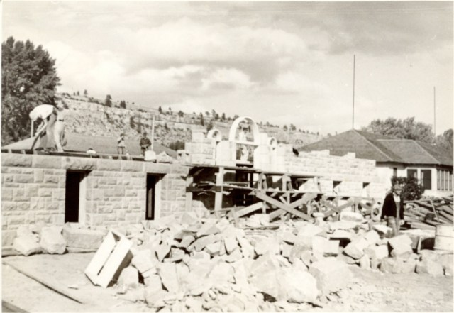 The construction of Alden Hall was started in the 1930s. Sandstone was pulled from the Rimrocks located just behind RMC campus. Alden was the last permanent structure built on campus until the Paul M. Adams Memorial Library in 1959. The building served as the men's dormitory until 1973 when it was converted to faculty offices and classrooms.