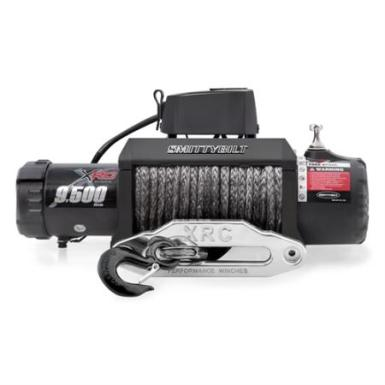 Smittybilt XRC-9.5K 9500lb Winch Synthetic Rope Gen2 with Aluminum Fairlead - 98495