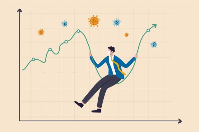 Coronavirus crash stock market plunged, high volatility asset price swing in Coronavirus outbreak crisis concept