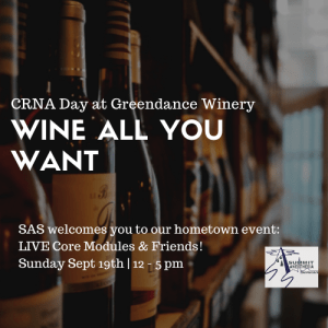 CRNA Day at Greendance Winery @ Greendance Winery at Sand Hill Berries