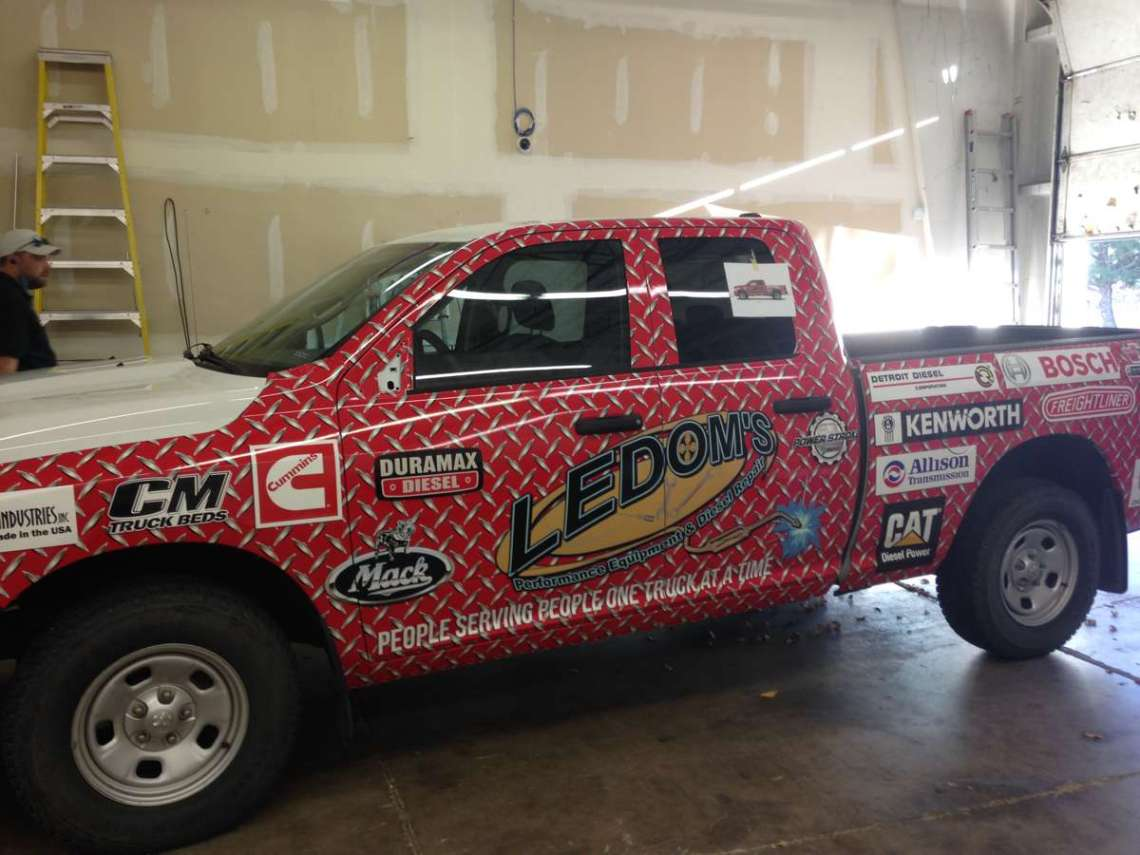 ledoms wrap 2 - Channel Lettering in Colorado