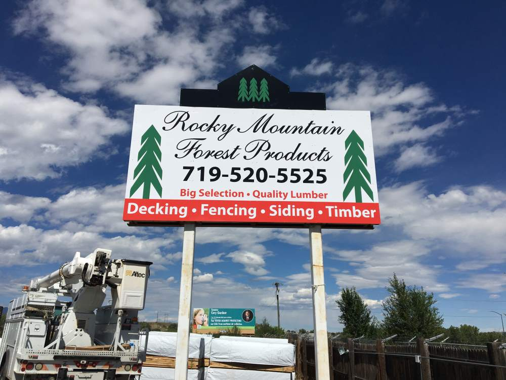 rocky mountain forestry pole sign - rocky-mountain-forestry-pole-sign