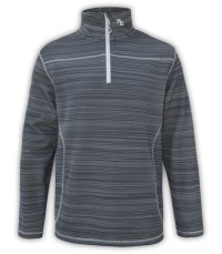 summit edge outerwear brand gray mens quarter zip workout pullover, printed, white zipper, collar,