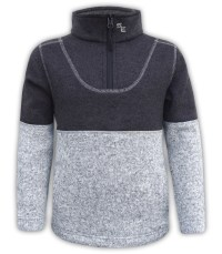 kids north shore fleece pullover 2 color collar 1/4 zip
