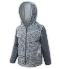 summit edge outerwear brand kids toddler sport fleece jacket, gray hood,, soft comfortable zipper