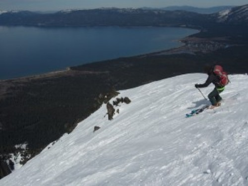 Final Descent backcountry from Mt. Tallac