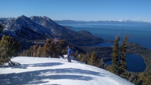 Eric with the view of Lake Tahoe to the North