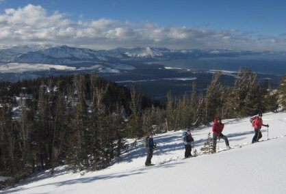 Beautiful vistas of Tahoe once on the ridge of Trimmer